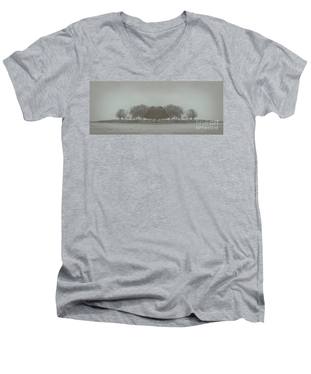 Landscape Men's V-Neck T-Shirt featuring the photograph I Will Walk You Home by Dana DiPasquale