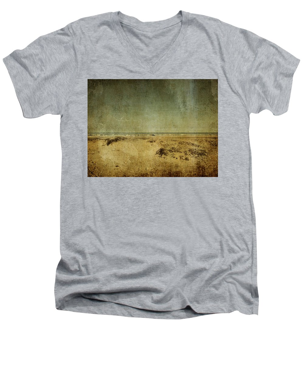 Beach Men's V-Neck T-Shirt featuring the photograph I Wore Your Shirt by Dana DiPasquale