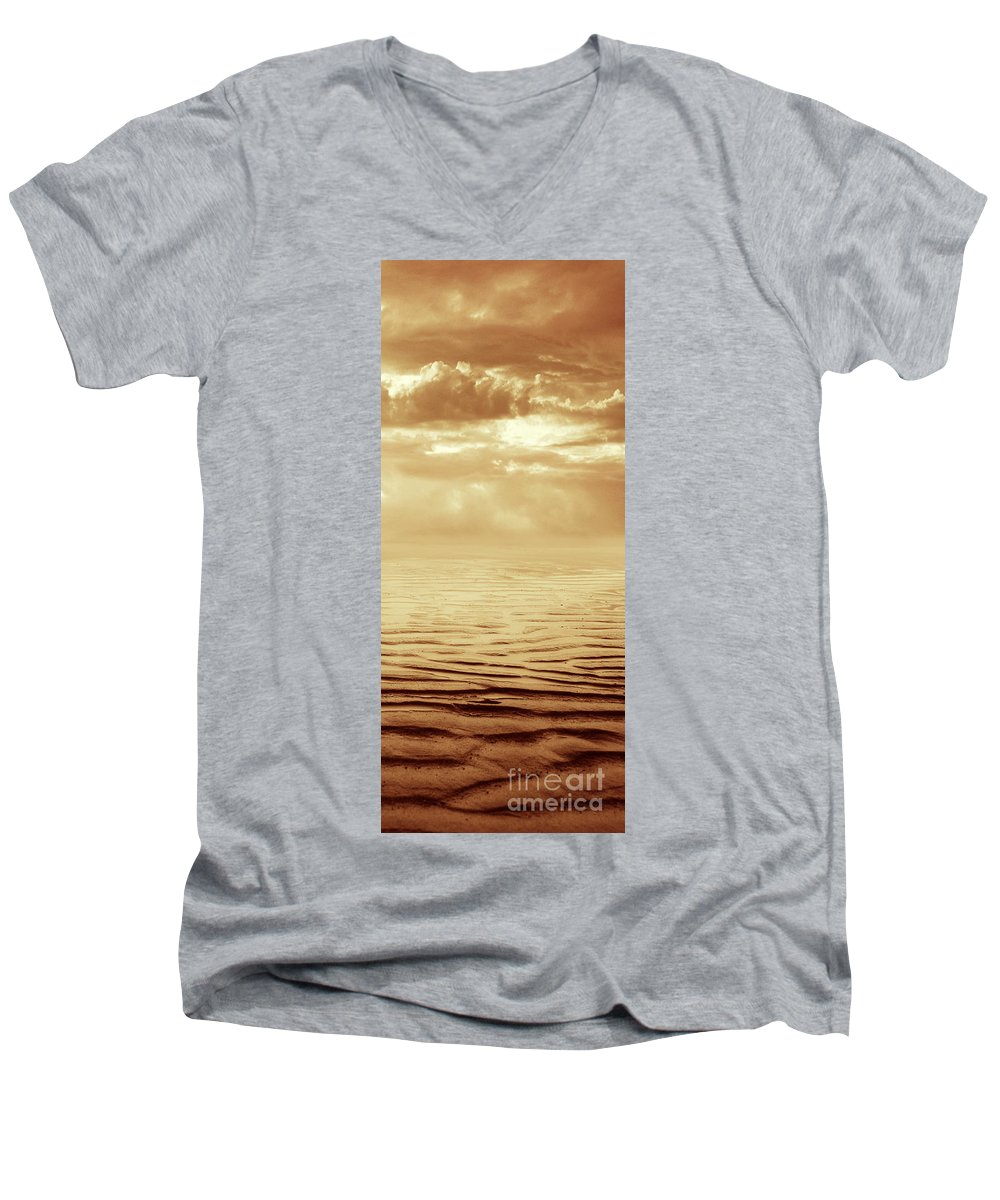 Dipasquale Men's V-Neck T-Shirt featuring the photograph Illusion Never Changed Into Something Real by Dana DiPasquale