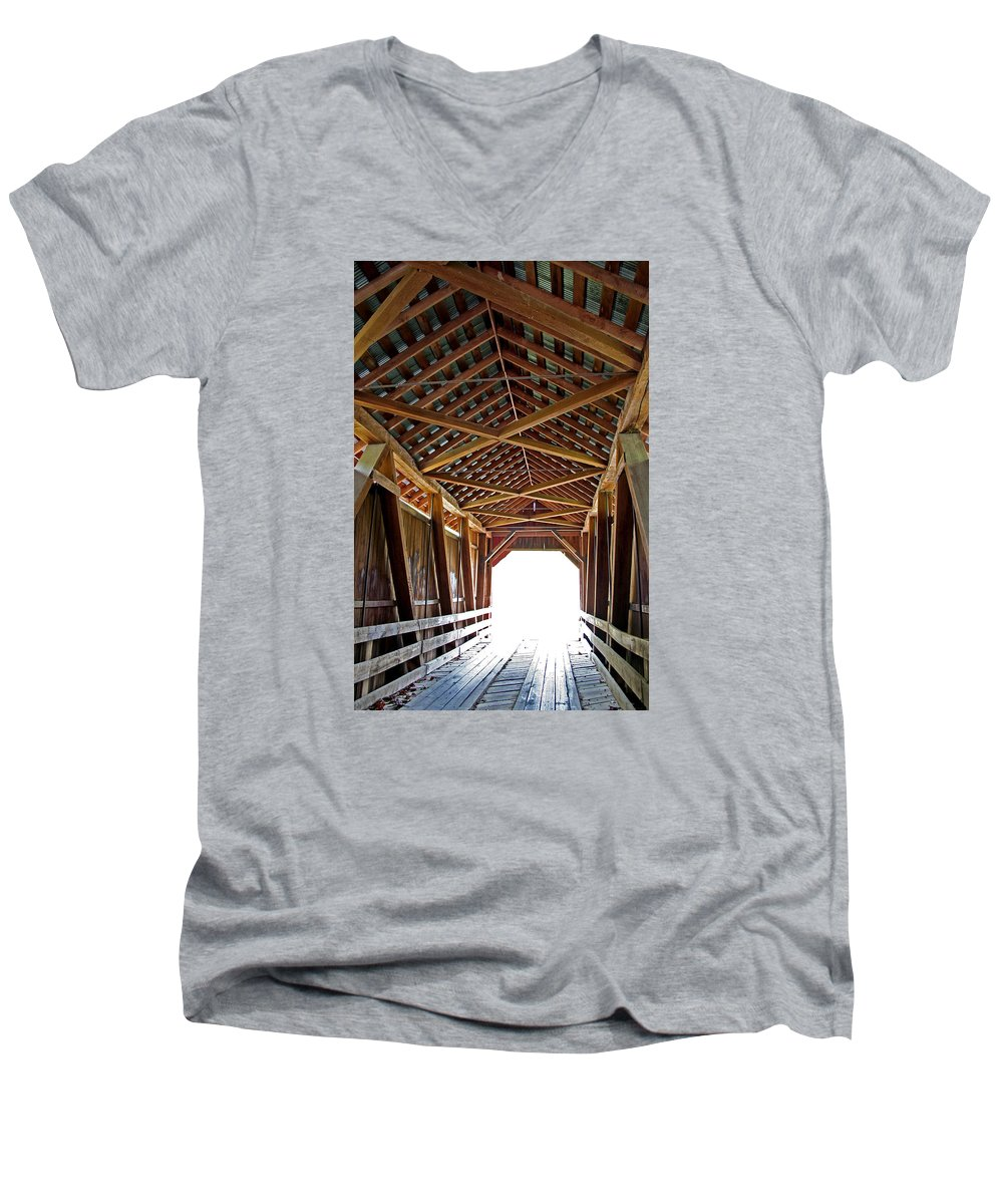 Light Men's V-Neck T-Shirt featuring the photograph Into The Light by Margie Wildblood