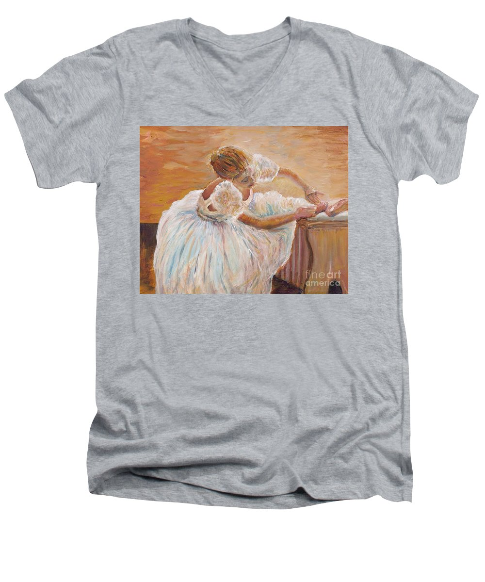 Dancer Men's V-Neck T-Shirt featuring the painting Kaylea by Nadine Rippelmeyer