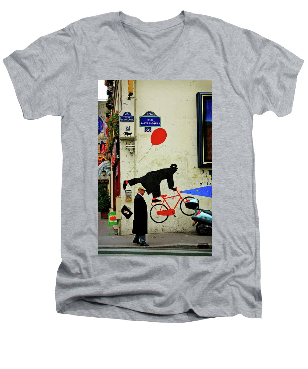 Paris Men's V-Neck T-Shirt featuring the photograph Kick In The Head by Skip Hunt