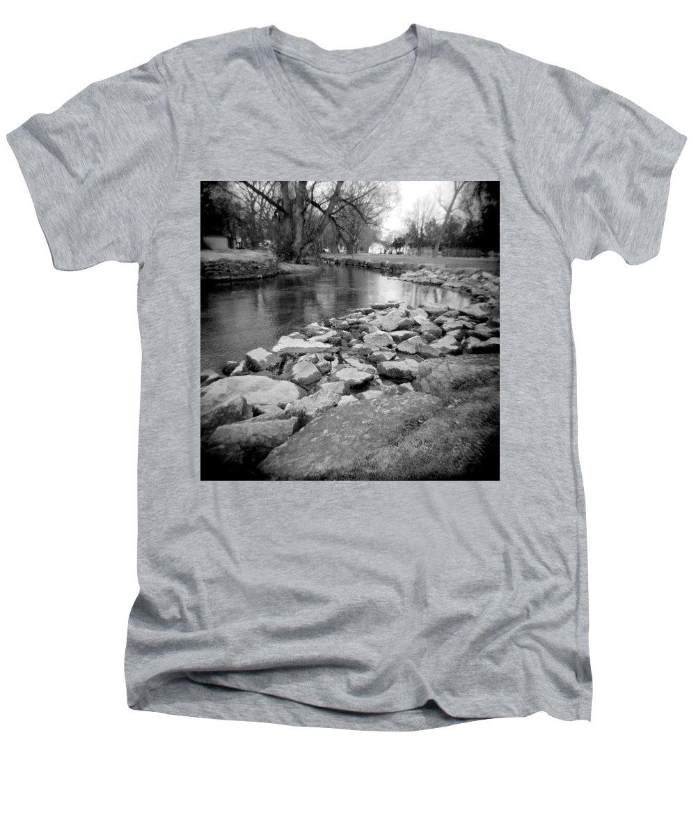 Photograph Men's V-Neck T-Shirt featuring the photograph Le Tort Spring Run by Jean Macaluso