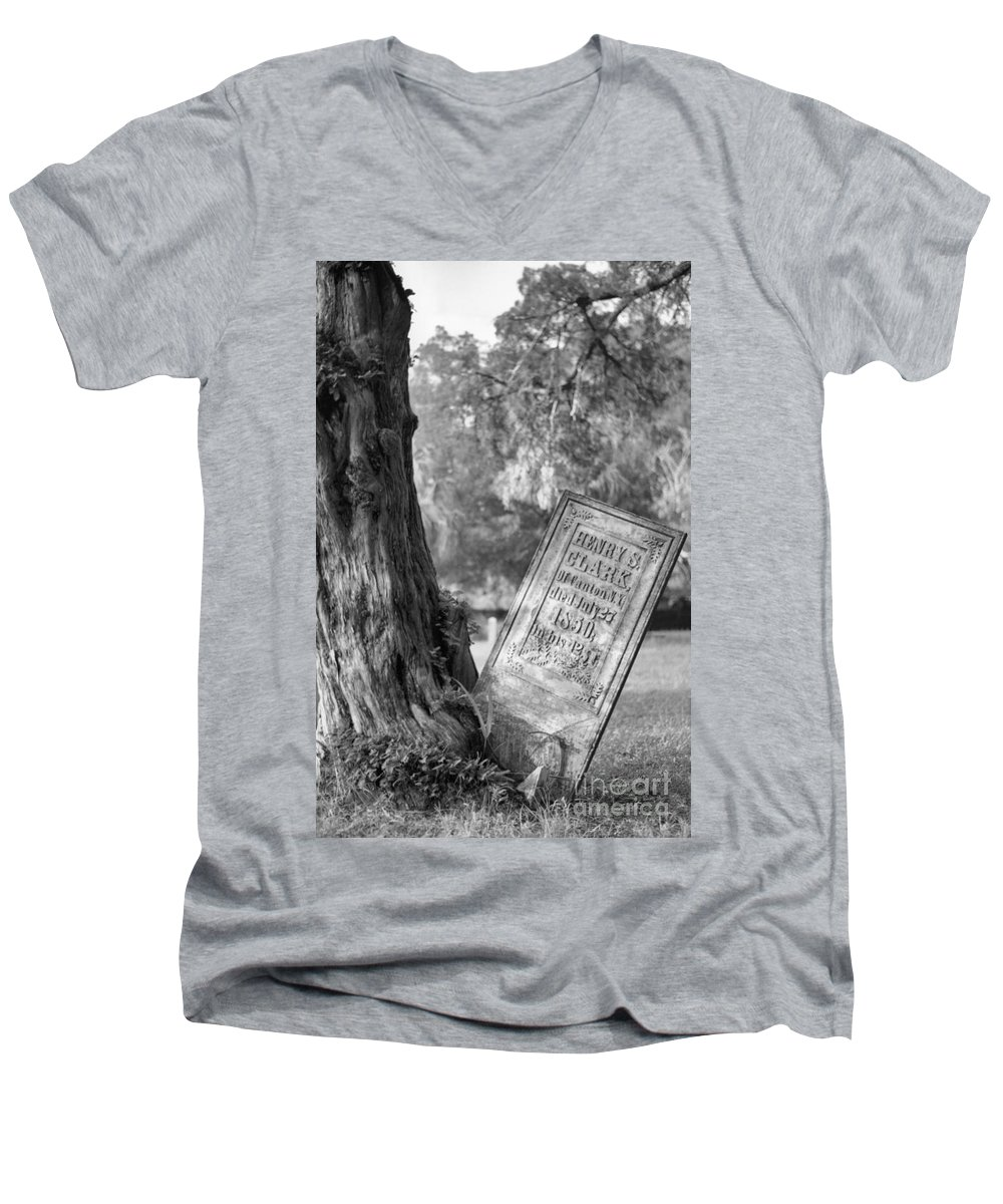 Graves Men's V-Neck T-Shirt featuring the photograph Life After Death by Richard Rizzo