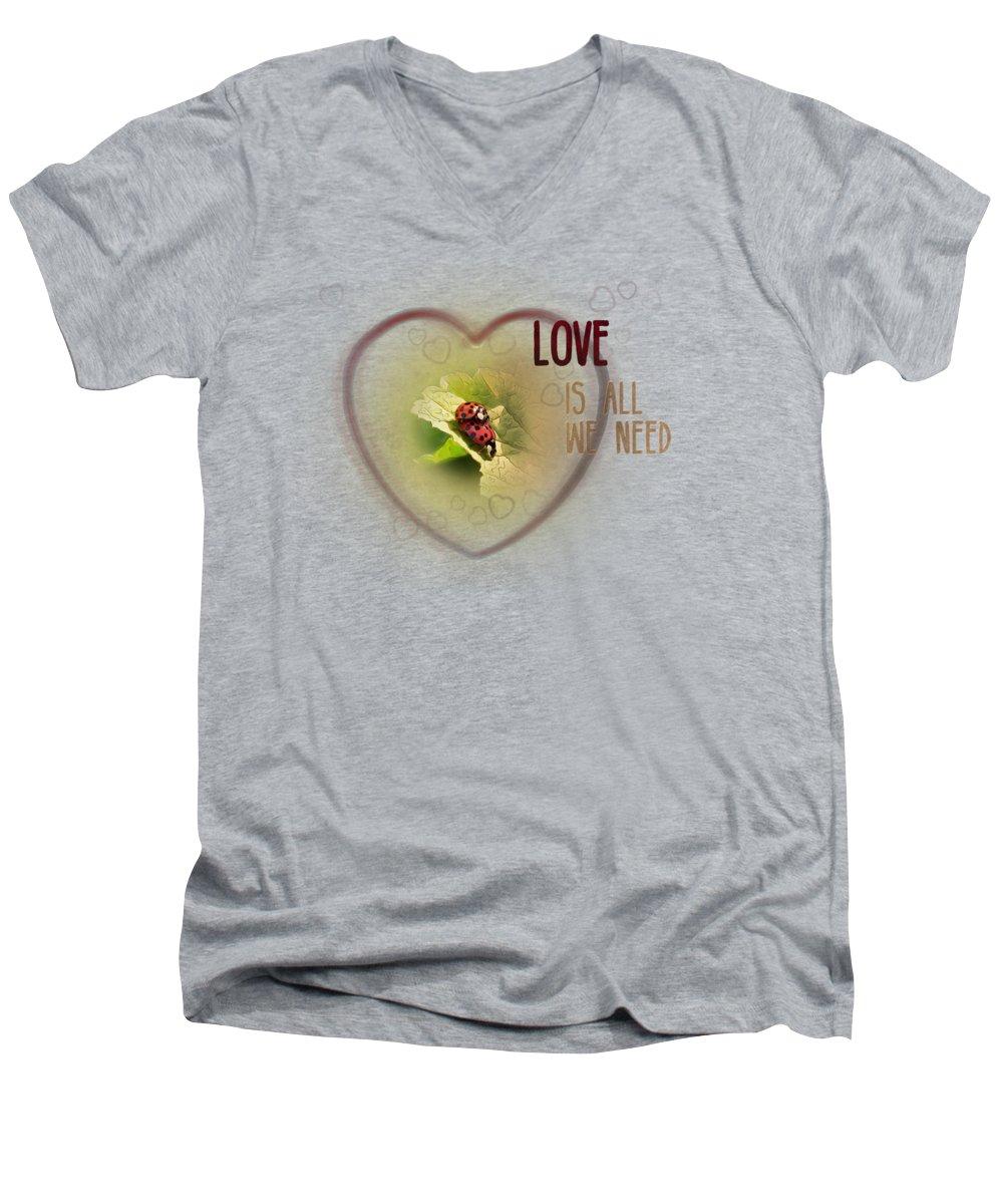 Ladybug V-Neck T-Shirts