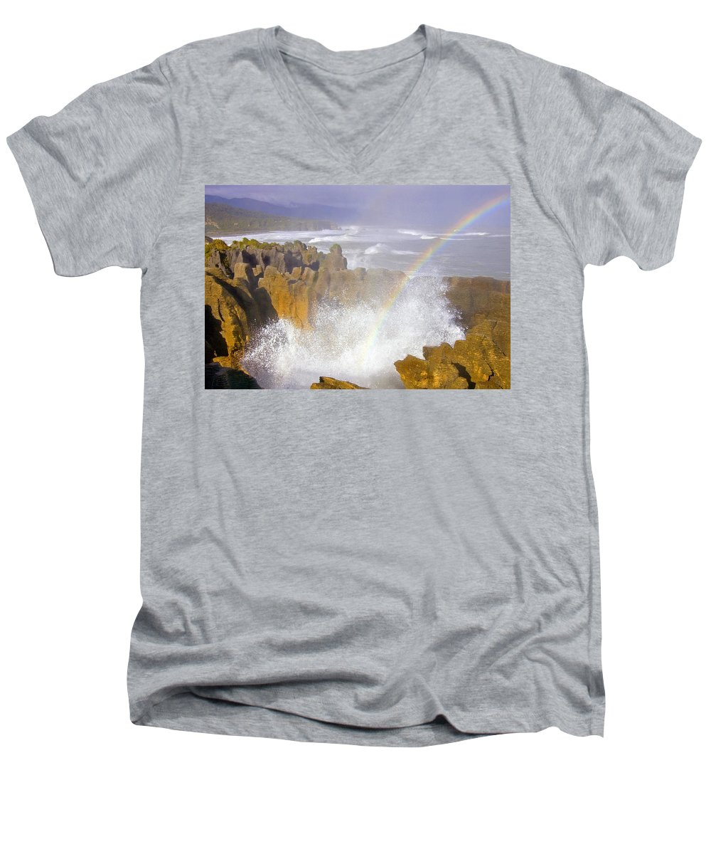 Paparoa Men's V-Neck T-Shirt featuring the photograph Making Miracles by Mike Dawson