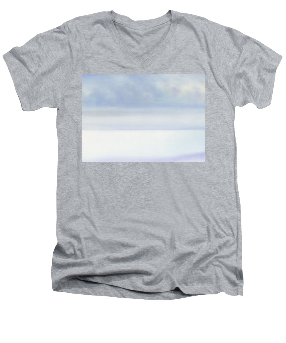 Moana Pearl Men's V-Neck T-Shirt featuring the painting Moana Pearl 2 by Kevin Smith