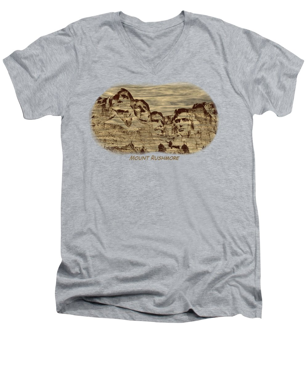 Lincoln Memorial V-Neck T-Shirts