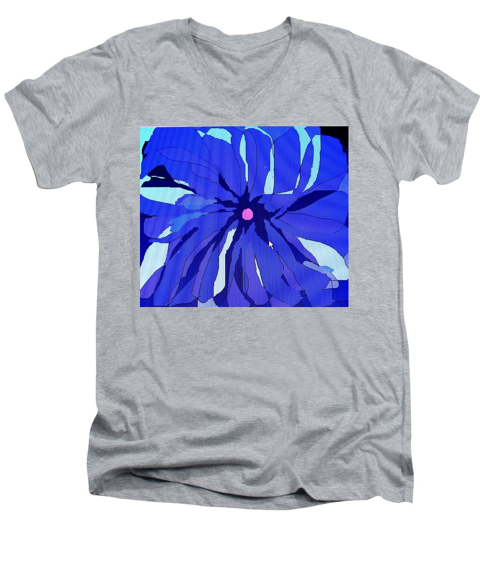 Flower Men's V-Neck T-Shirt featuring the digital art My Fantastic Flower by Ian MacDonald