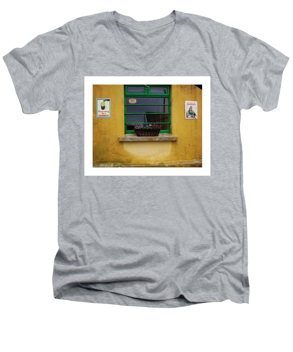 Ireland Men's V-Neck T-Shirt featuring the photograph Nothing Like A Guinness by Tim Nyberg