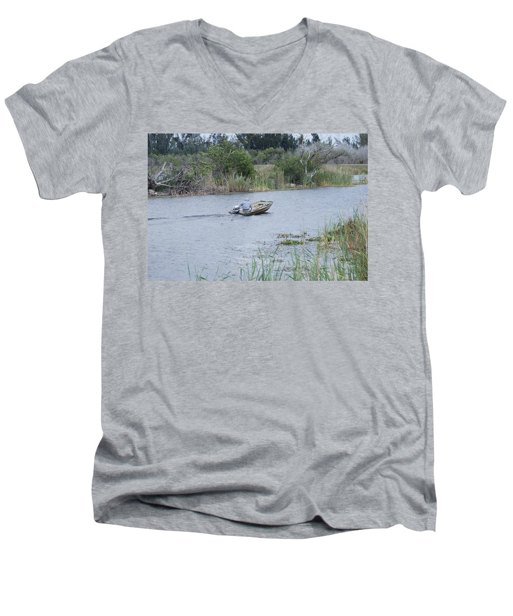 River Men's V-Neck T-Shirt featuring the photograph Old Man River by Rob Hans