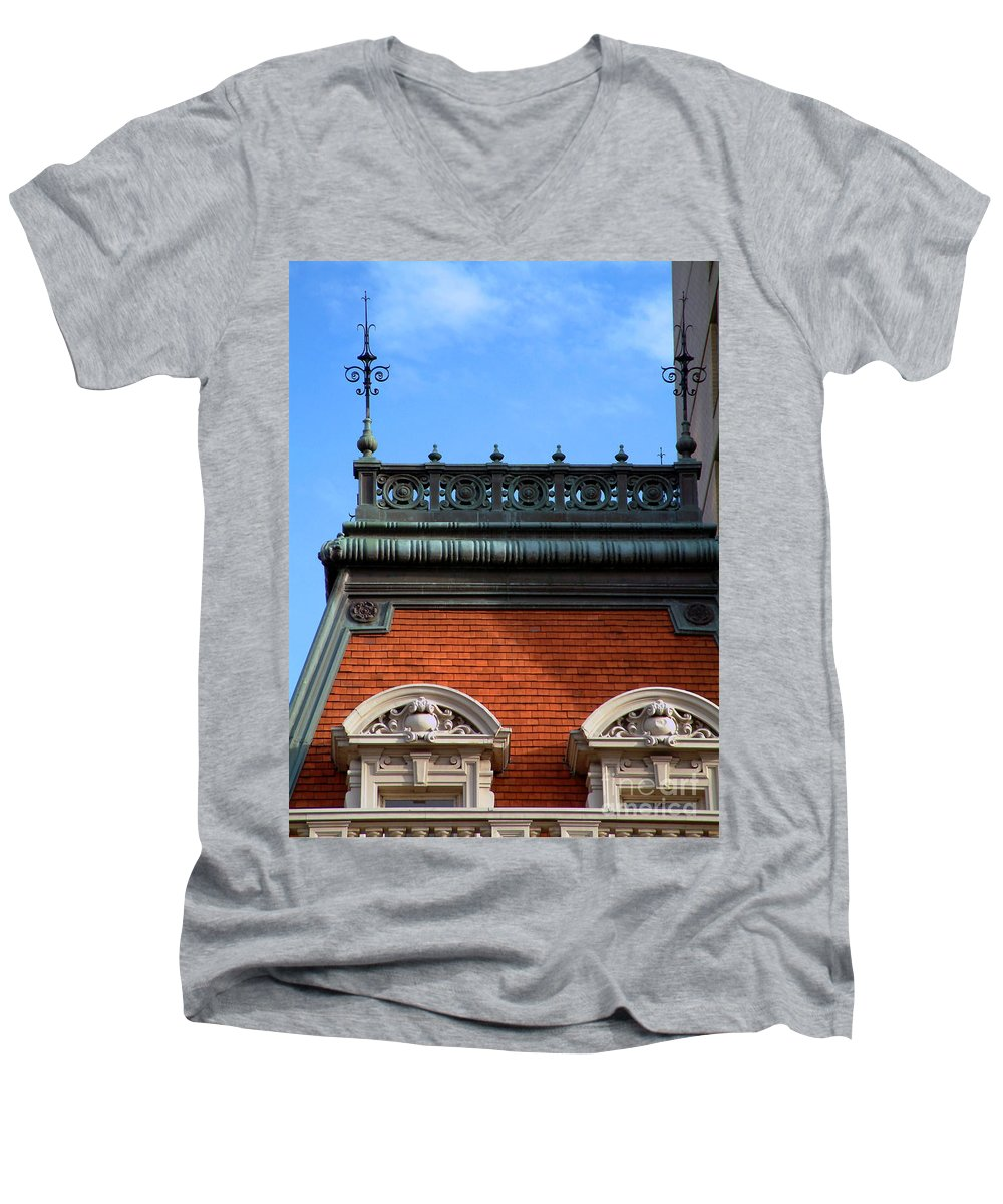 Apartment Men's V-Neck T-Shirt featuring the photograph On A Clear Day by RC DeWinter