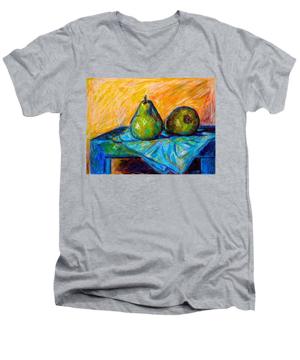 Still Life Men's V-Neck T-Shirt featuring the painting Other Pears by Kendall Kessler
