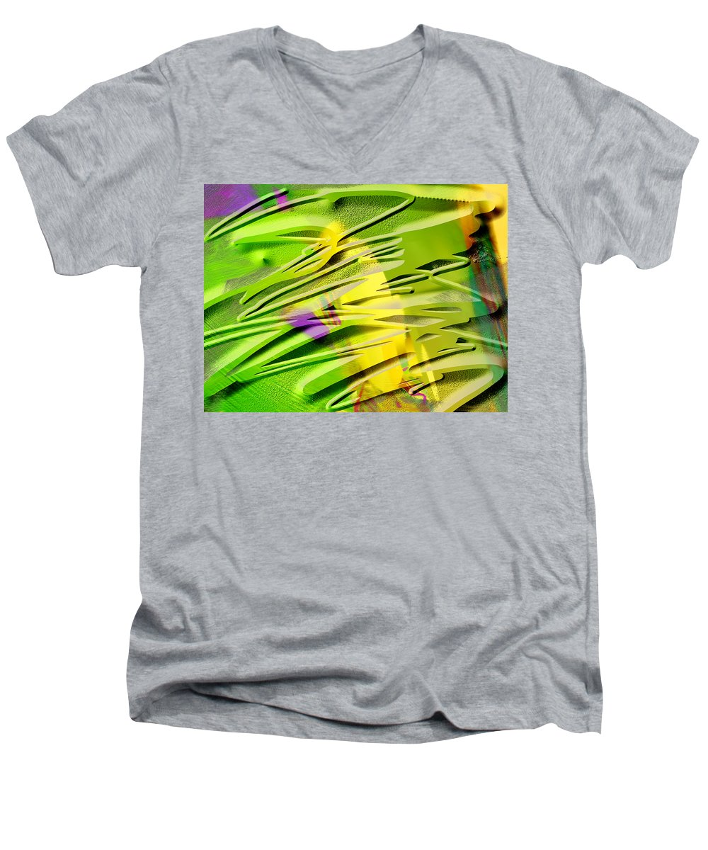 Scott Piers Men's V-Neck T-Shirt featuring the painting P39b by Scott Piers