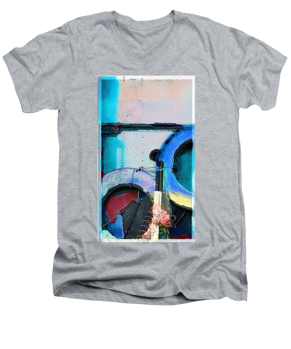 Abstract Men's V-Neck T-Shirt featuring the photograph panel three from Centrifuge by Steve Karol