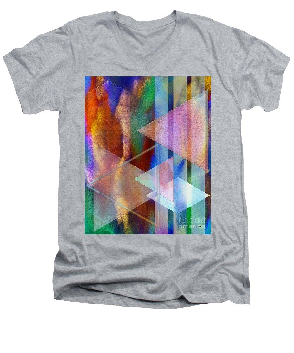 Pastoral Midnight Men's V-Neck T-Shirt featuring the digital art Pastoral Midnight by John Beck