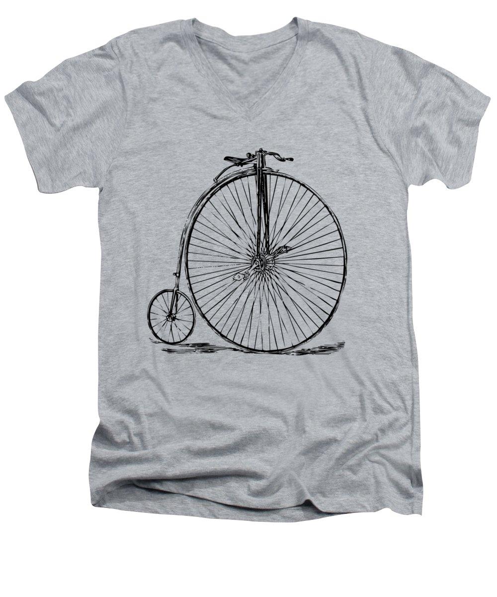 Bicycle V-Neck T-Shirts
