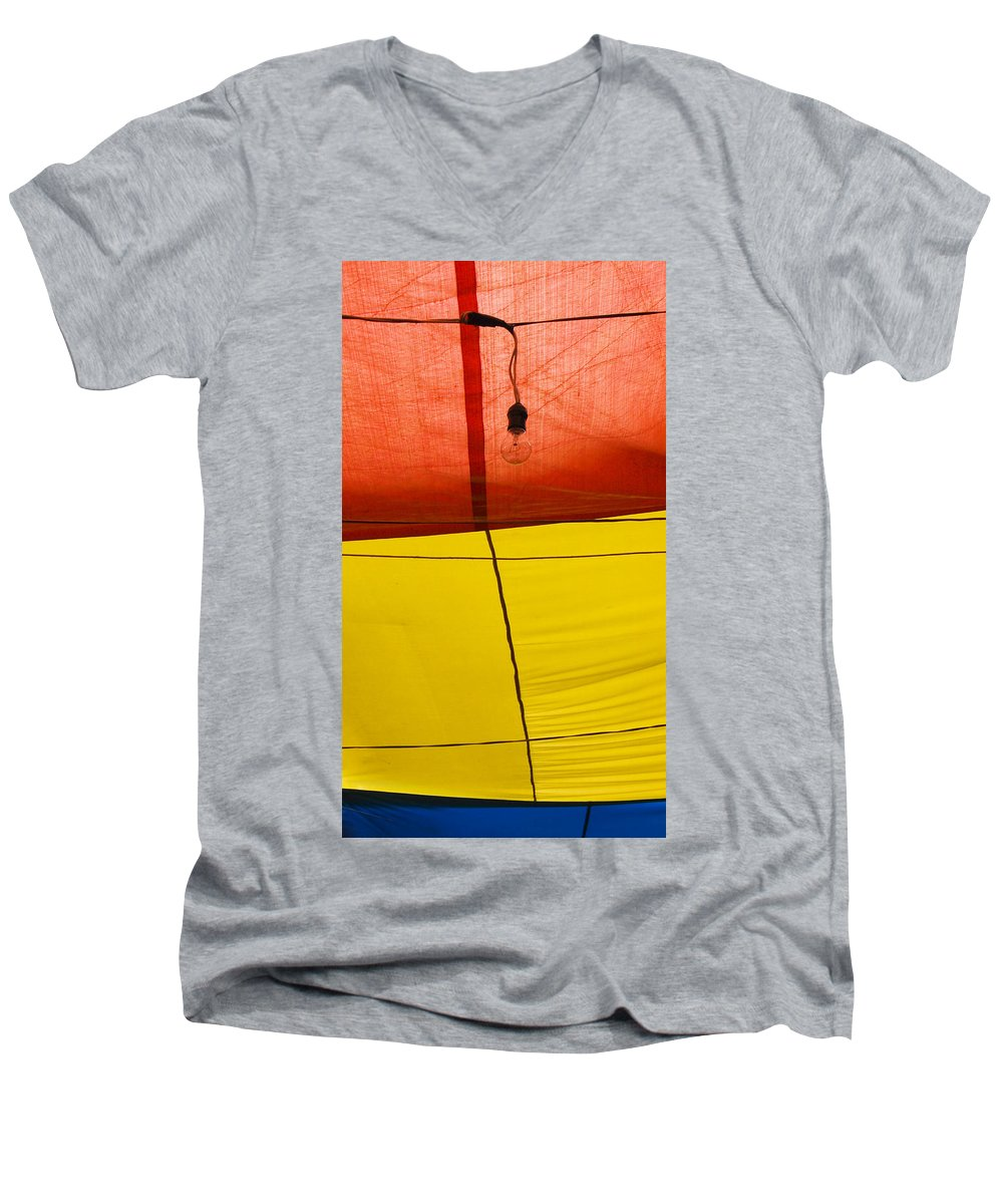 Bulb Men's V-Neck T-Shirt featuring the photograph Primary Light by Skip Hunt