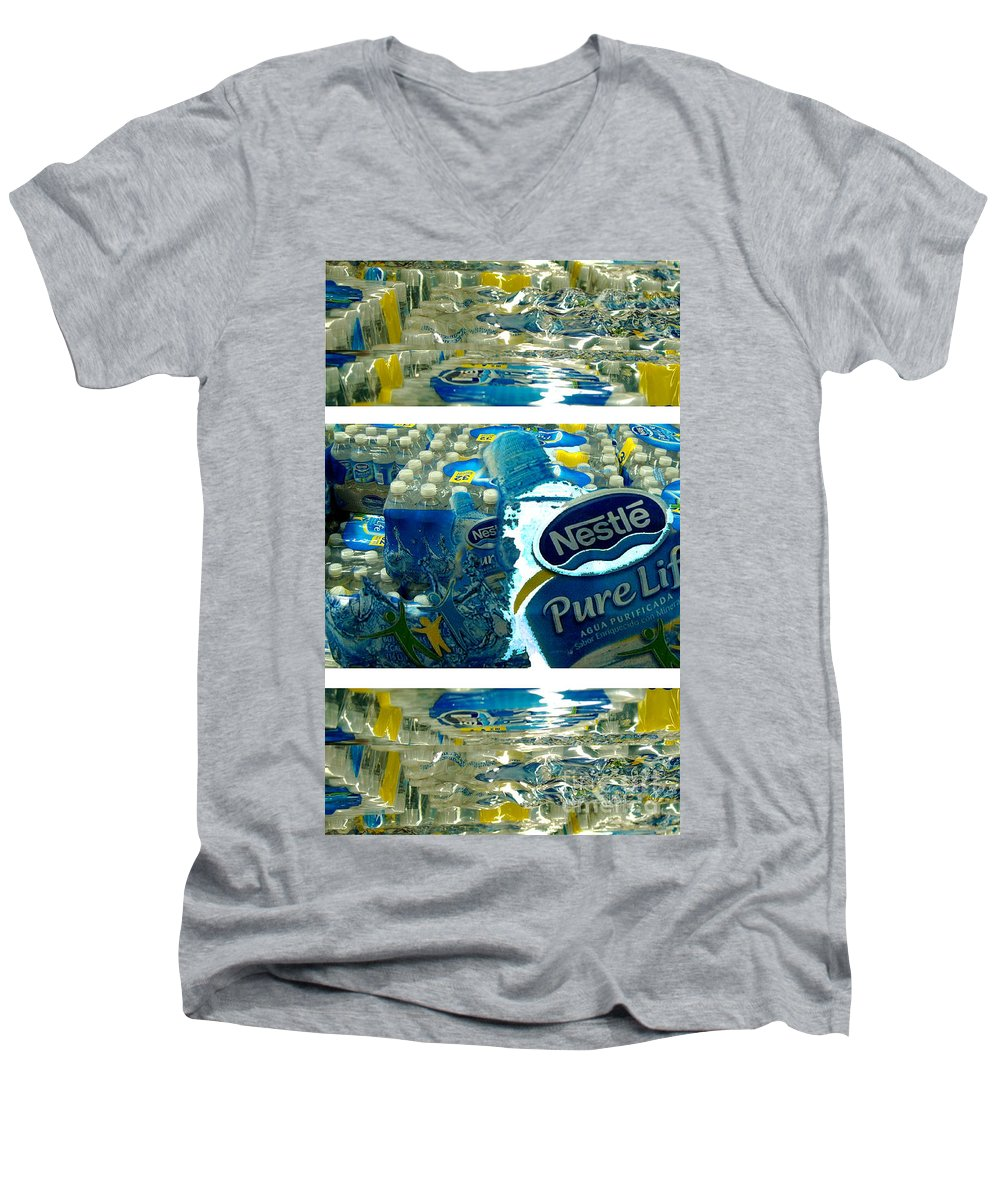 Water Men's V-Neck T-Shirt featuring the photograph Pure Life by Ze DaLuz