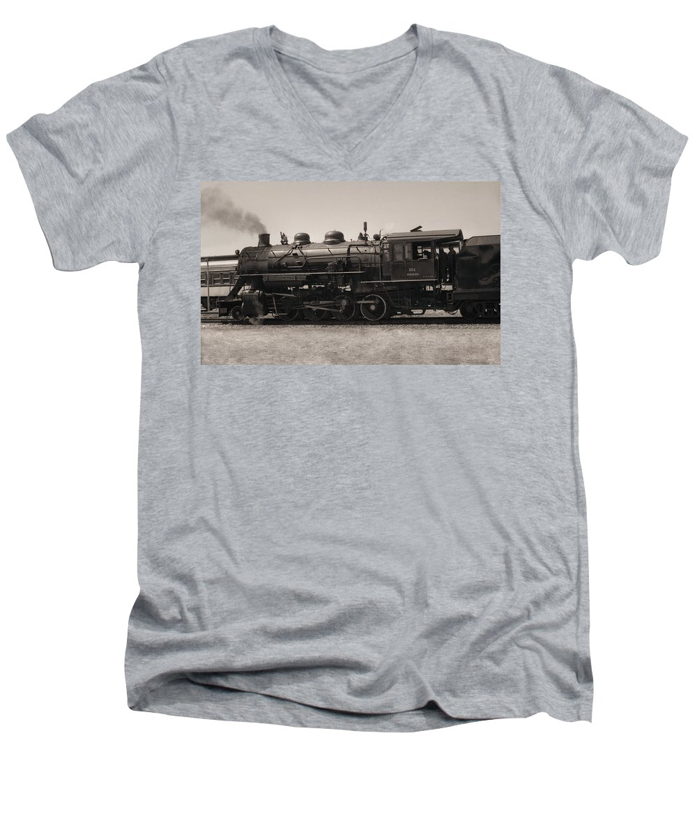 Americana Men's V-Neck T-Shirt featuring the photograph Reverse Throttle by Richard Rizzo