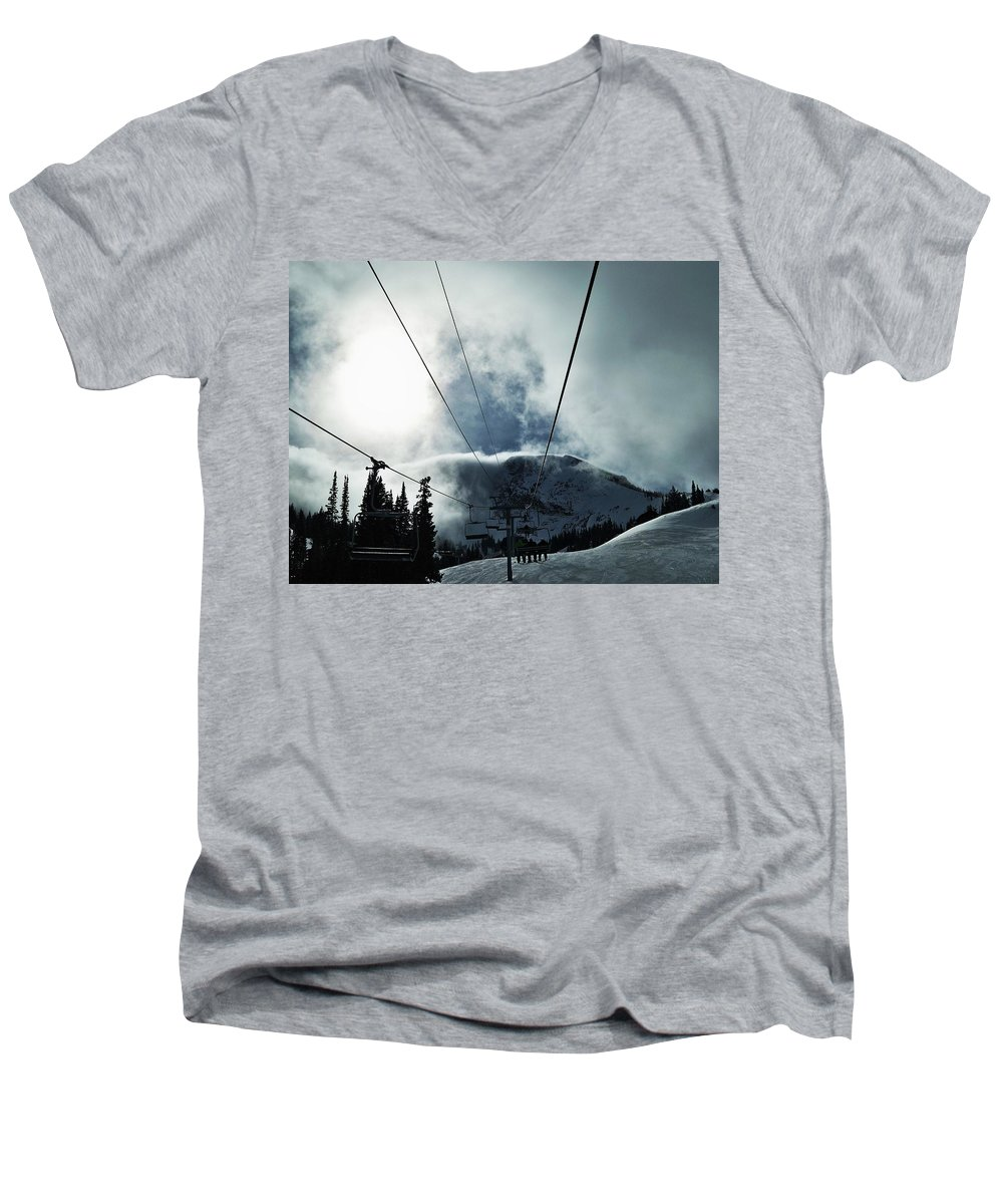 Landscape Men's V-Neck T-Shirt featuring the photograph Rise To The Sun by Michael Cuozzo