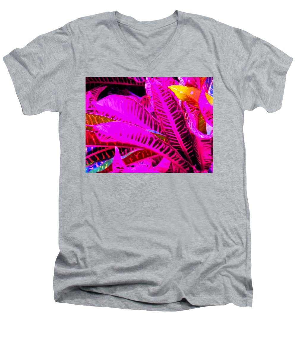 Pink Men's V-Neck T-Shirt featuring the photograph Romney Pink by Ian MacDonald
