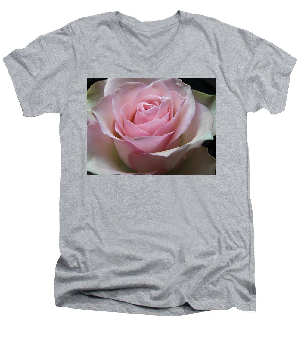Rose Men's V-Neck T-Shirt featuring the photograph Rose by Daniel Csoka