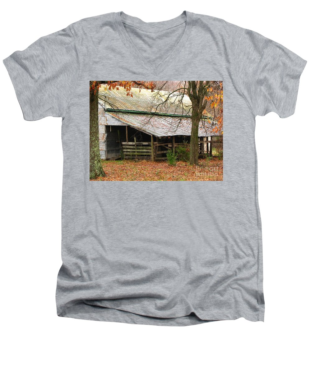 Rural Men's V-Neck T-Shirt featuring the photograph Rural by Amanda Barcon