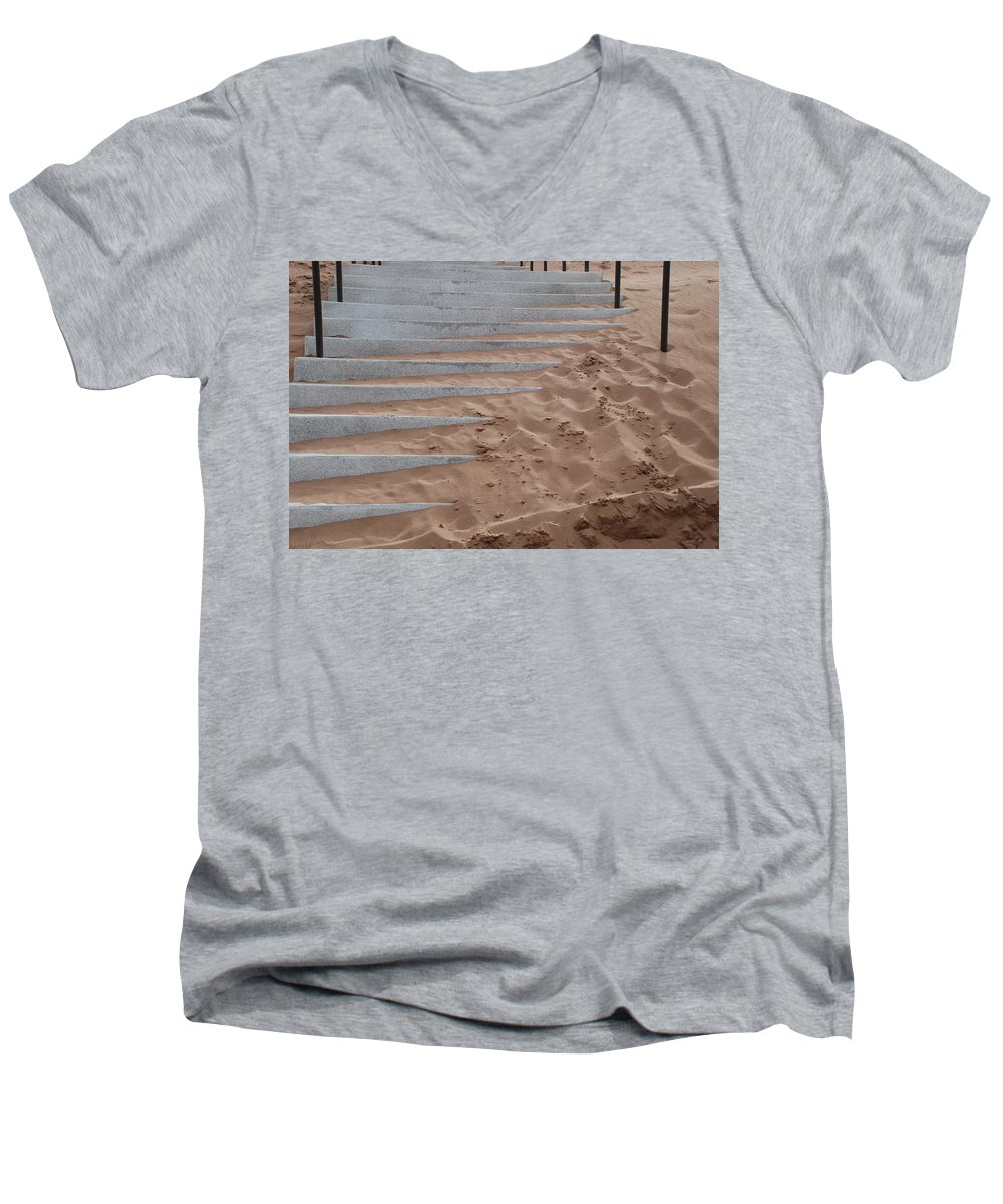 Pop Art Men's V-Neck T-Shirt featuring the photograph Sands Of Time by Rob Hans