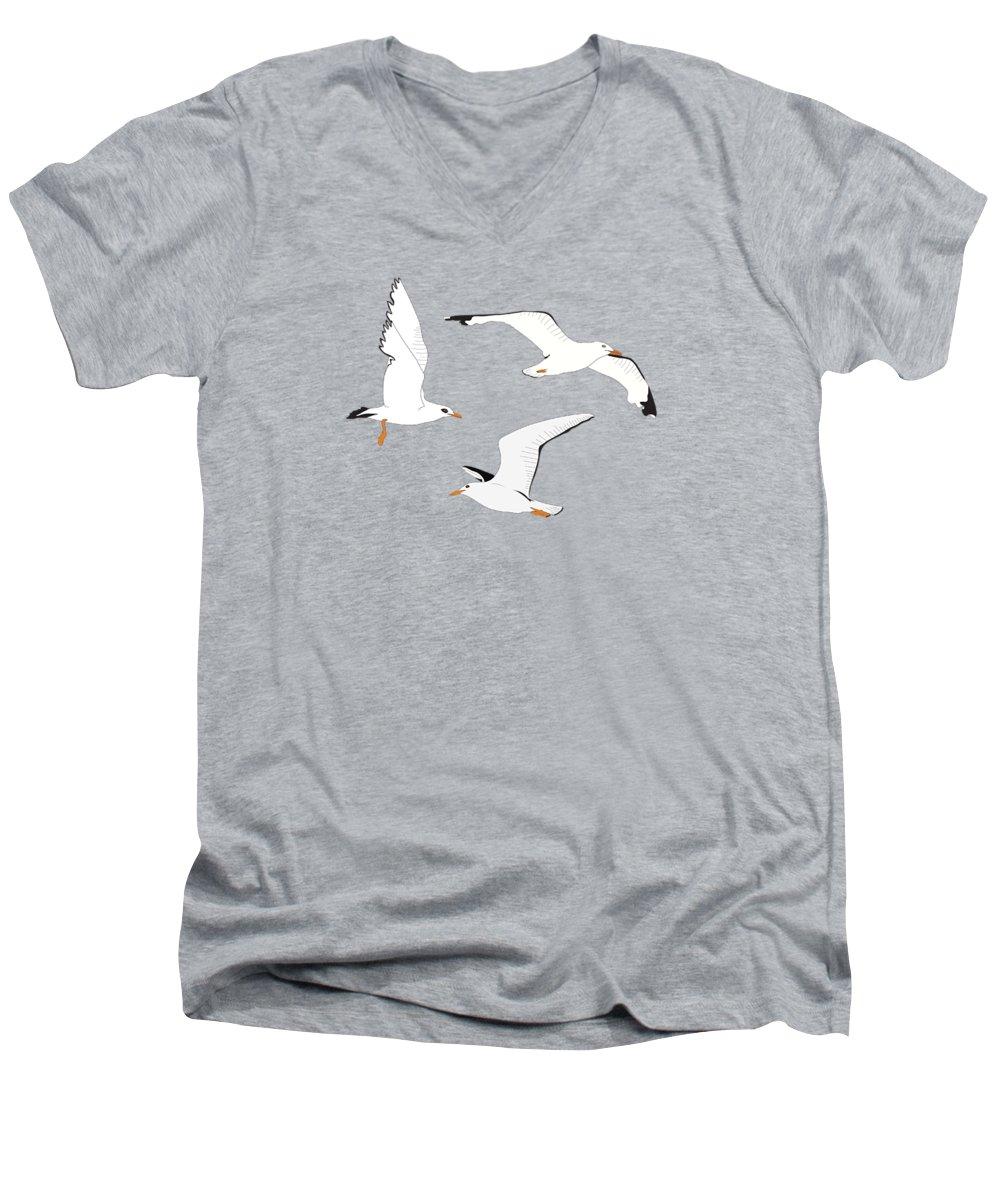 Seagull V-Neck T-Shirts