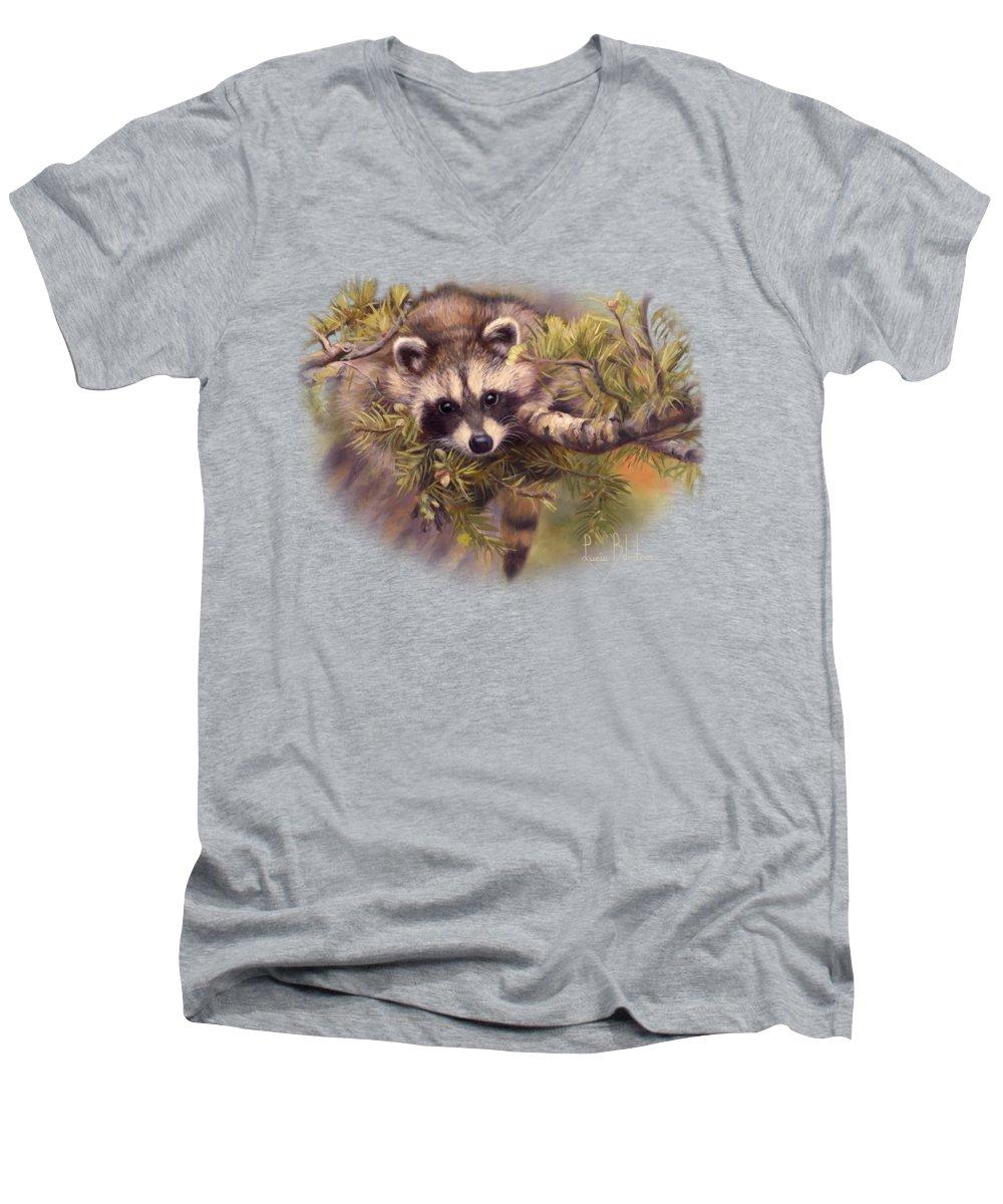 Raccoon V-Neck T-Shirts