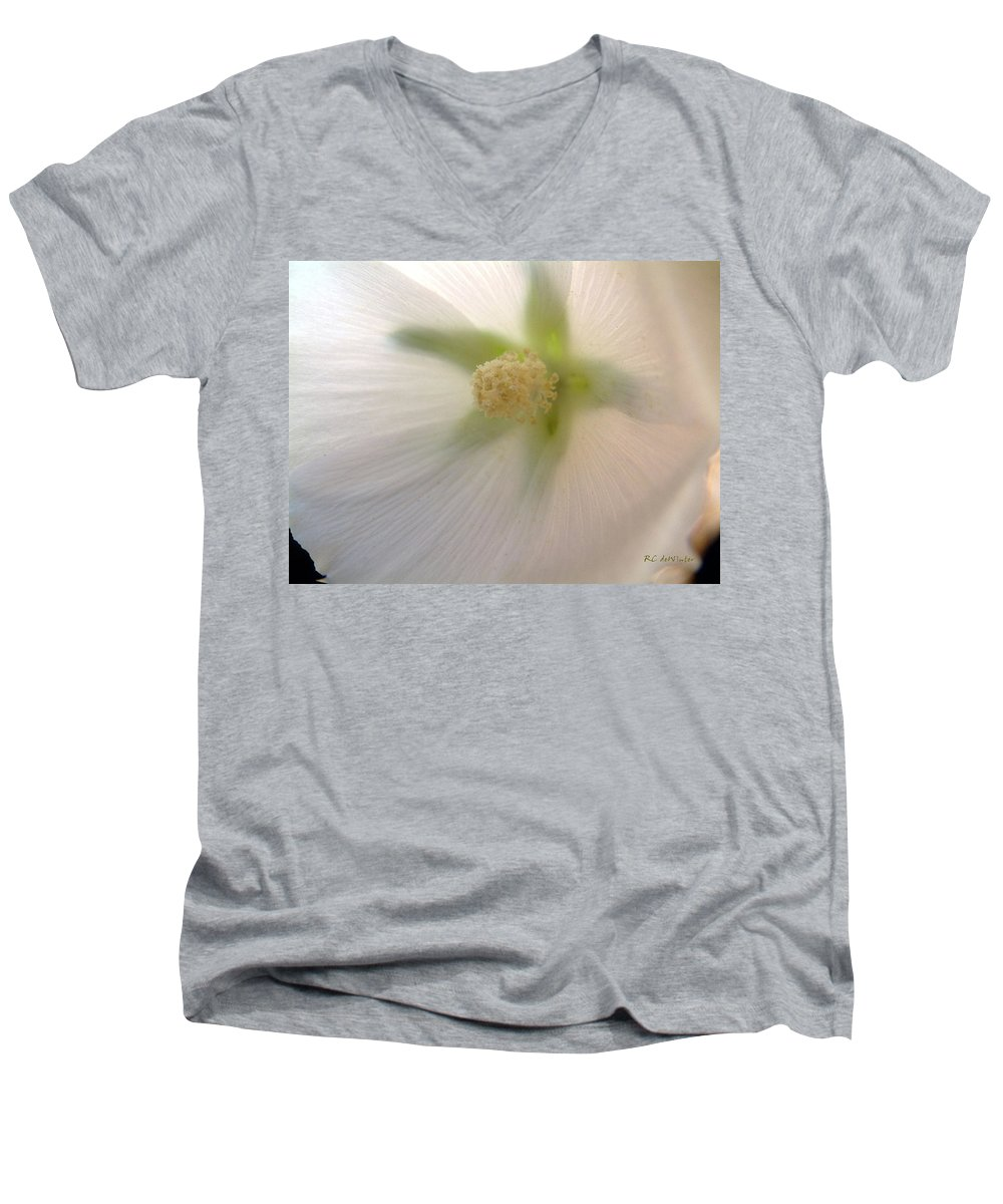 Blossom Men's V-Neck T-Shirt featuring the photograph Shimmer by RC DeWinter