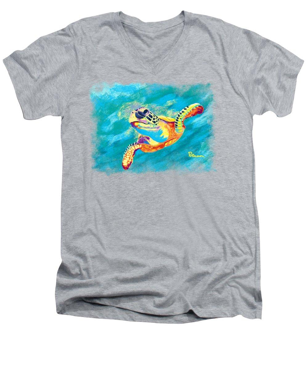 Turtle V-Neck T-Shirts