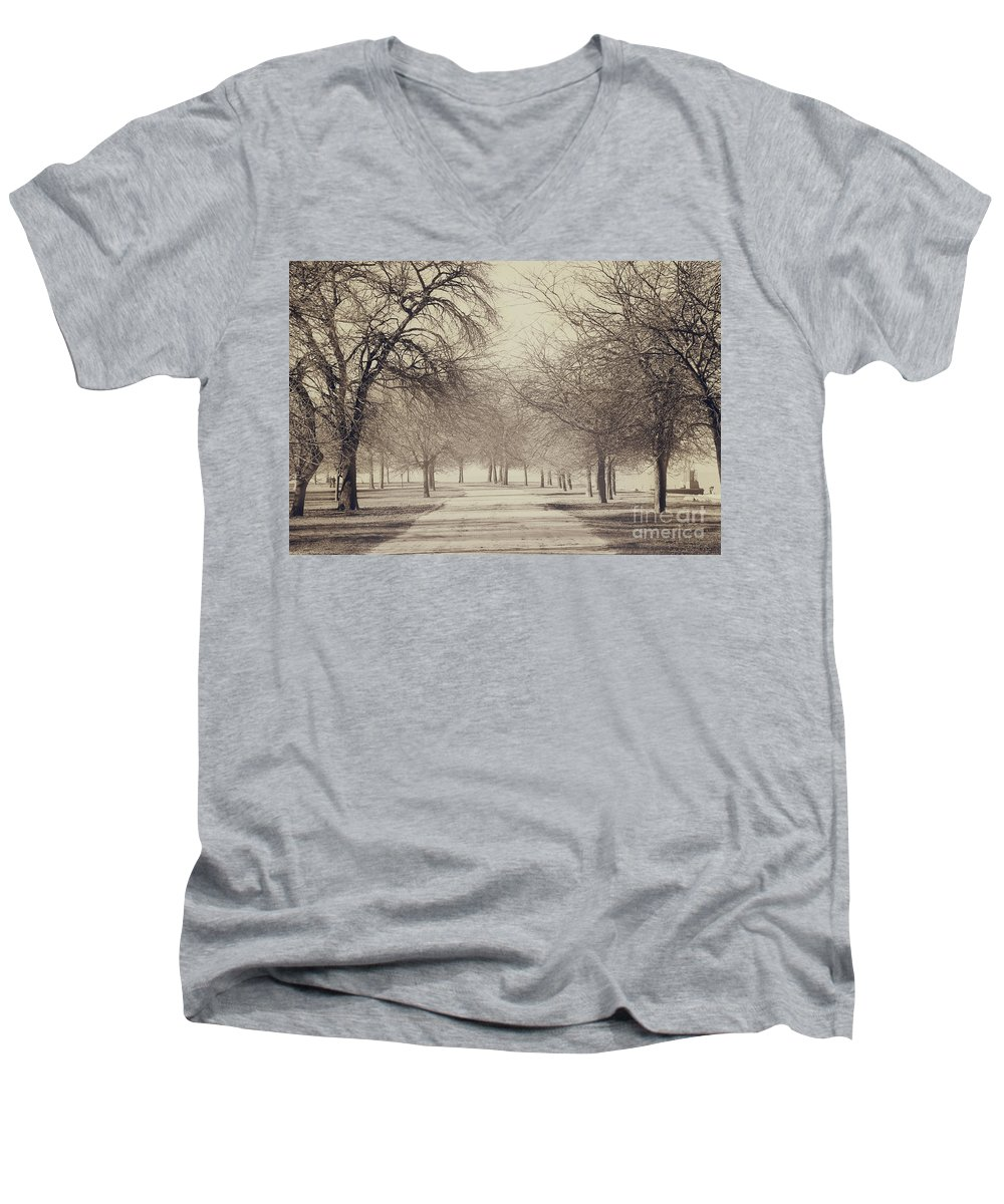 Trees Men's V-Neck T-Shirt featuring the photograph Stand Where I Stood by Dana DiPasquale