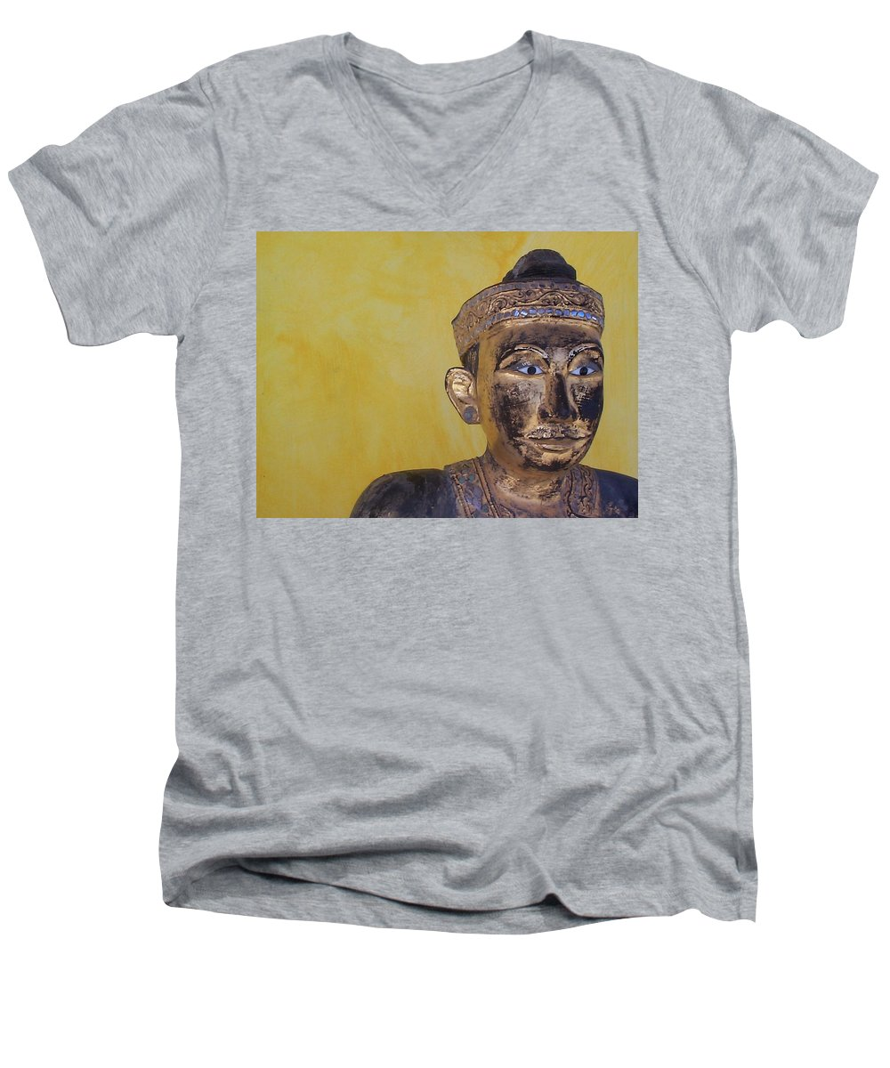 Charity Men's V-Neck T-Shirt featuring the photograph Statue by Mary-Lee Sanders