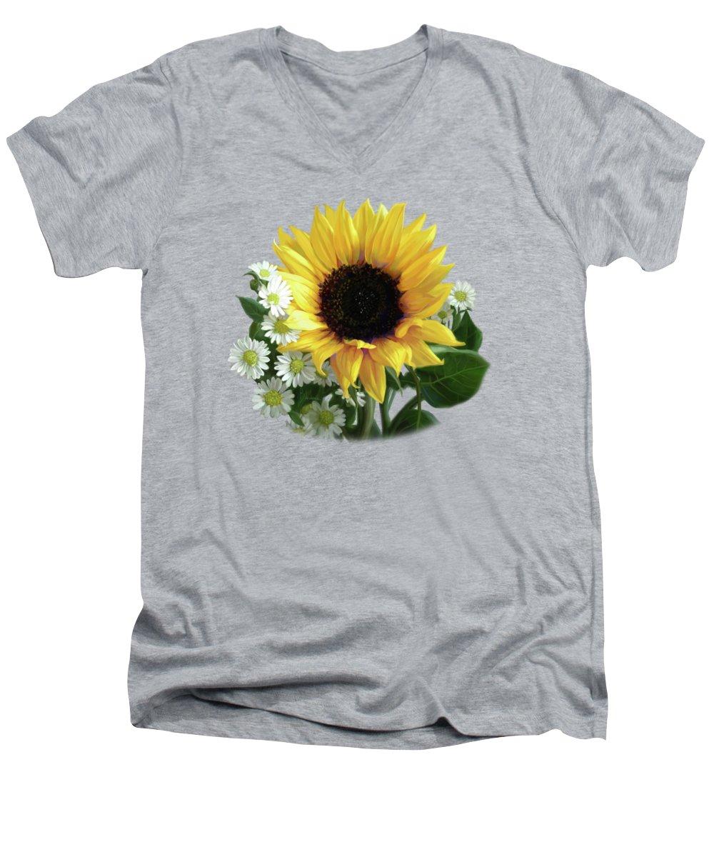 Sunflower V-Neck T-Shirts