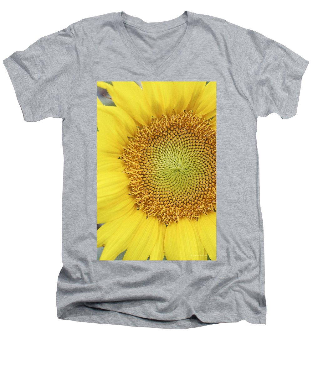 Sunflower Men's V-Neck T-Shirt featuring the photograph Sunflower by Margie Wildblood