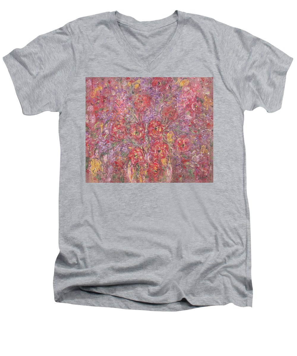 Still Life Men's V-Neck T-Shirt featuring the painting Sweet Memories by Natalie Holland