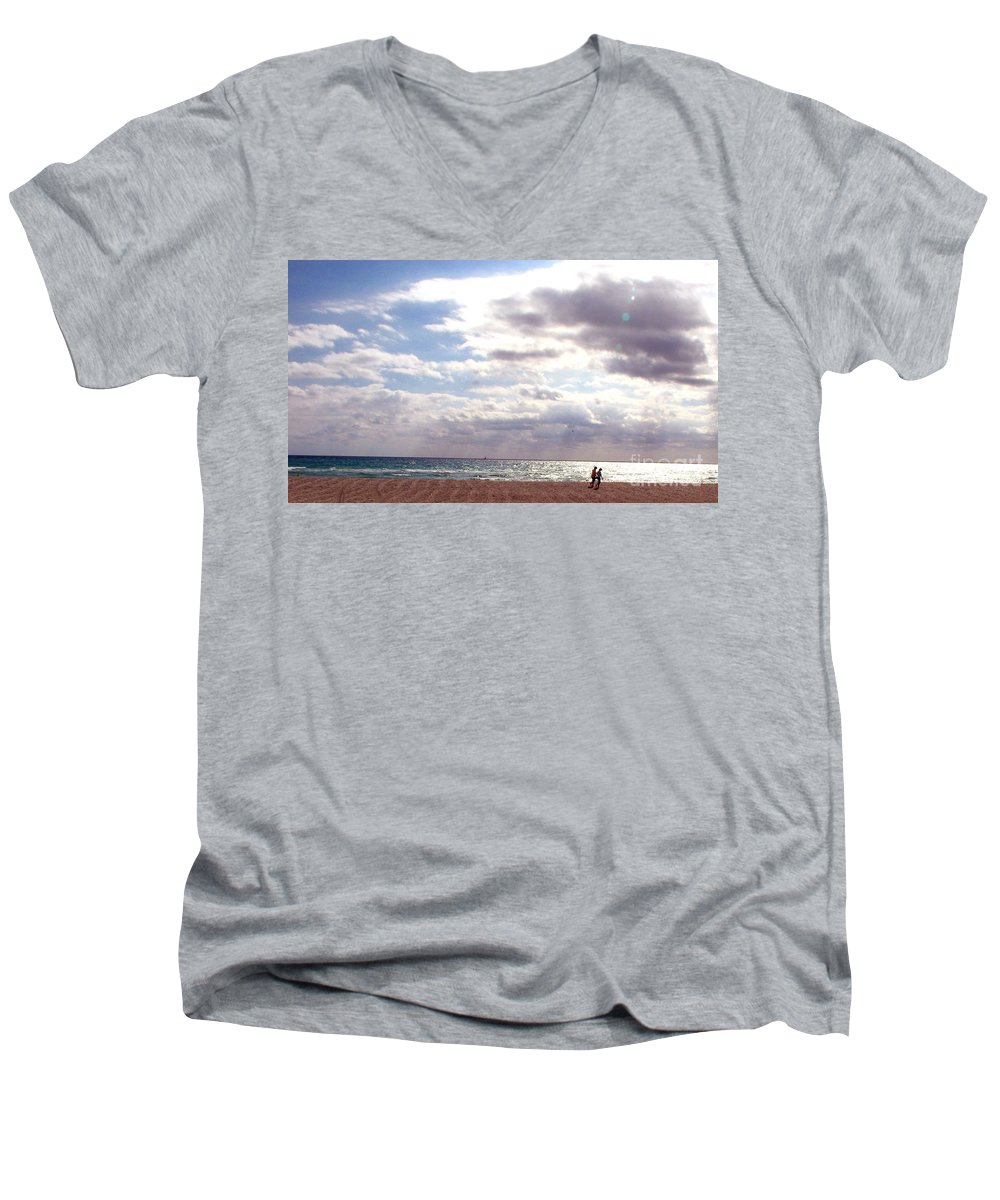 Walking Men's V-Neck T-Shirt featuring the photograph Taking A Walk by Amanda Barcon