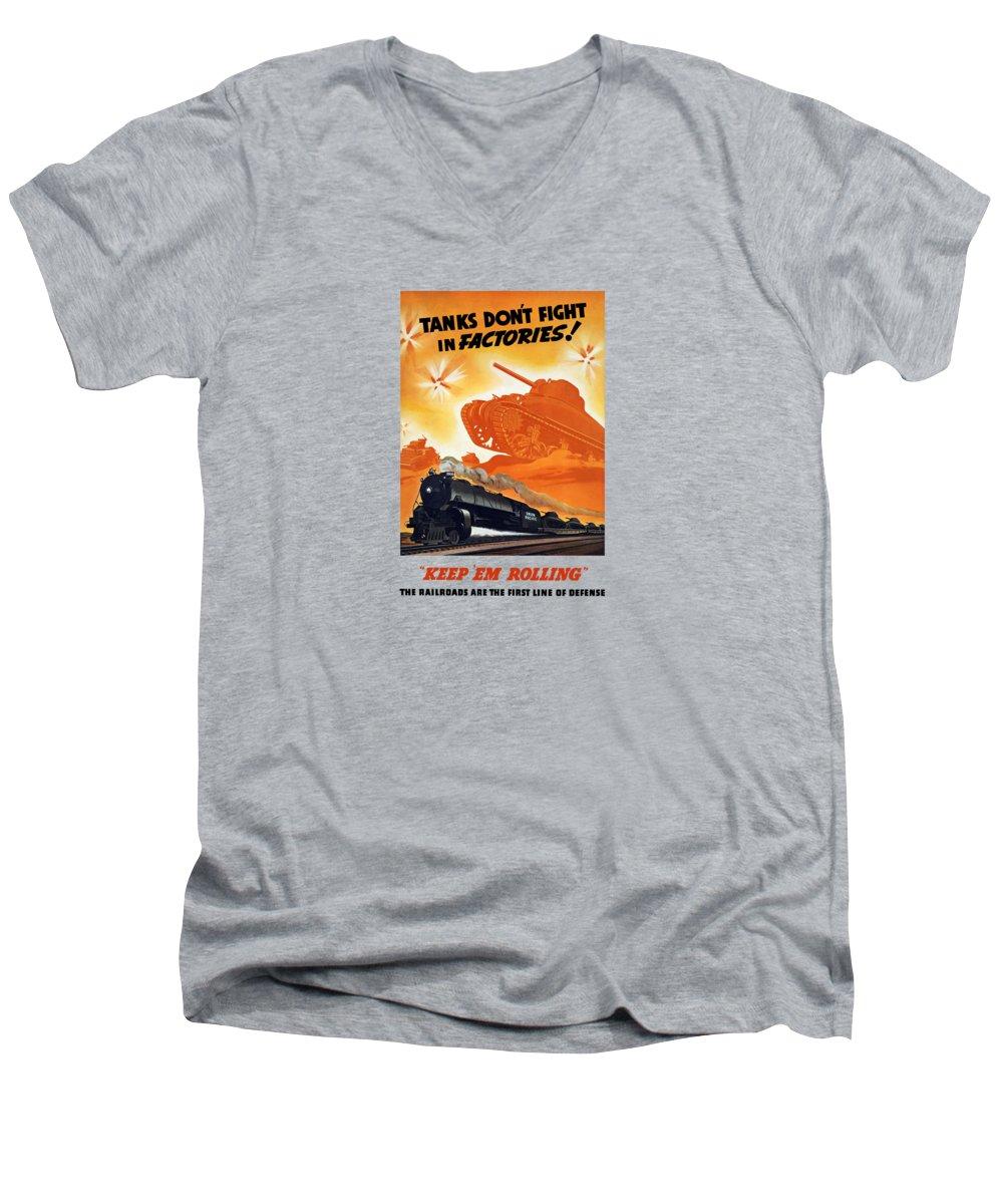 Train V-Neck T-Shirts