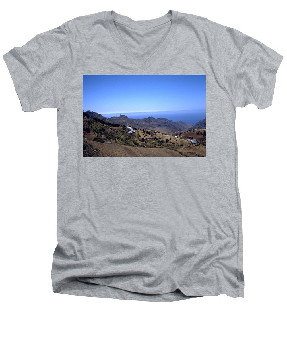 Tenerife Men's V-Neck T-Shirt featuring the photograph Tenerife II by Flavia Westerwelle
