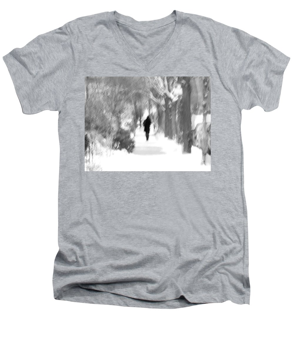 Blur Men's V-Neck T-Shirt featuring the photograph The Long December by Dana DiPasquale