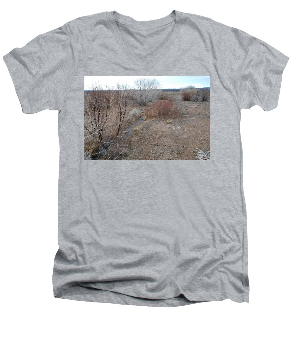 River Men's V-Neck T-Shirt featuring the photograph The Mighty Santa Fe River by Rob Hans