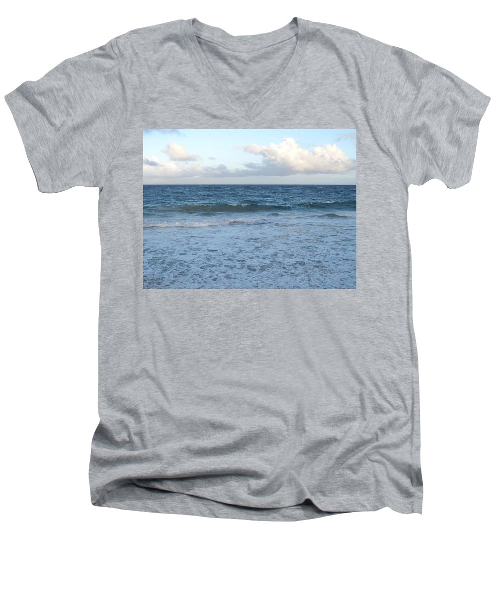 Surf Men's V-Neck T-Shirt featuring the photograph The Next Wave by Ian MacDonald