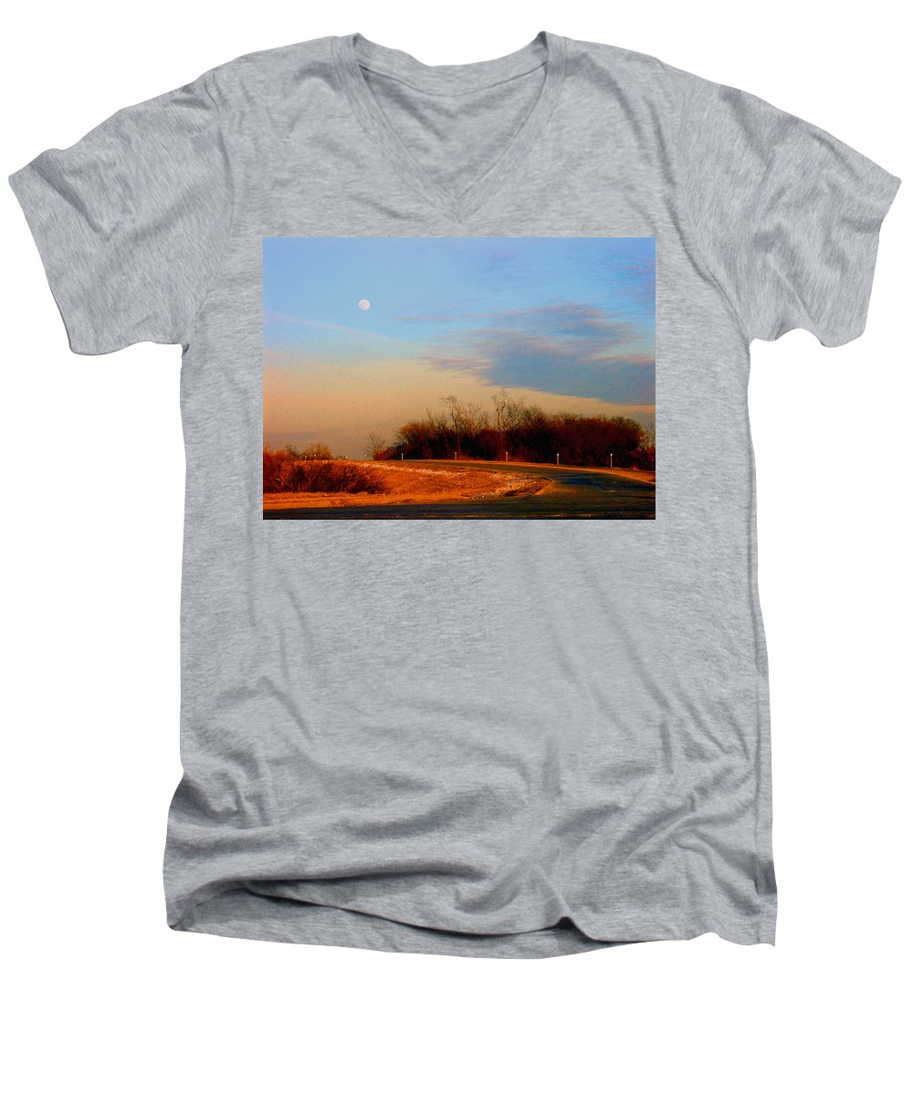 Landscape Men's V-Neck T-Shirt featuring the photograph The On Ramp by Steve Karol