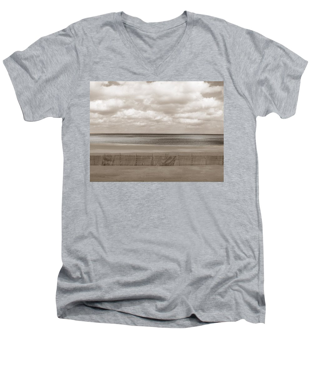 Ocean Men's V-Neck T-Shirt featuring the photograph The Perfect Sky Is Torn by Dana DiPasquale