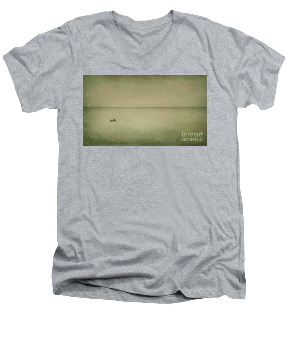 Sea Men's V-Neck T-Shirt featuring the photograph The Recesses Of The Deep by Dana DiPasquale