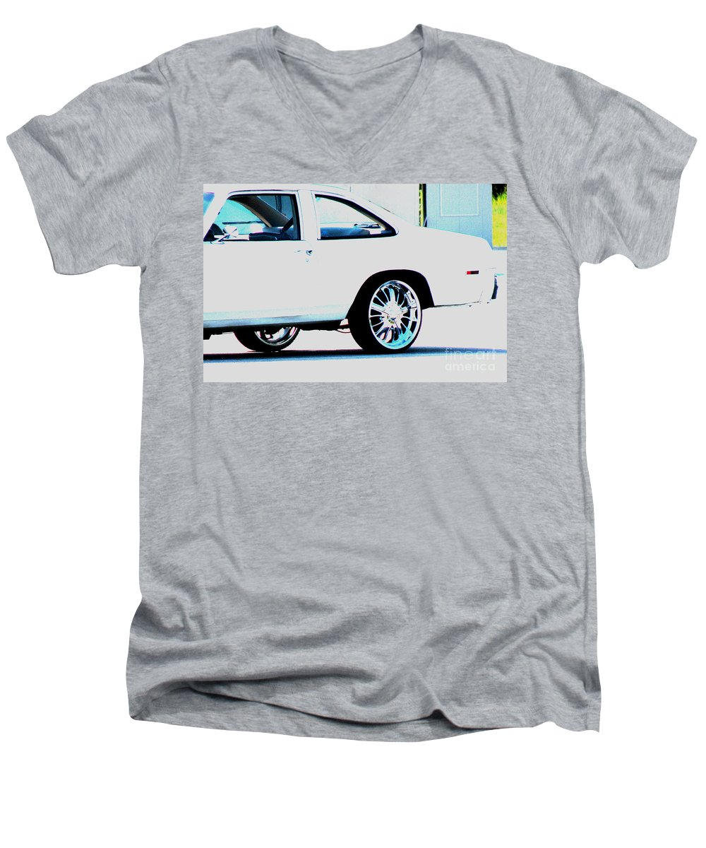 Car Men's V-Neck T-Shirt featuring the photograph The Ride by Amanda Barcon