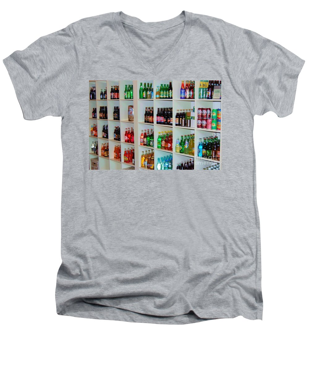 Soda Men's V-Neck T-Shirt featuring the photograph The Soda Gallery by Debbi Granruth