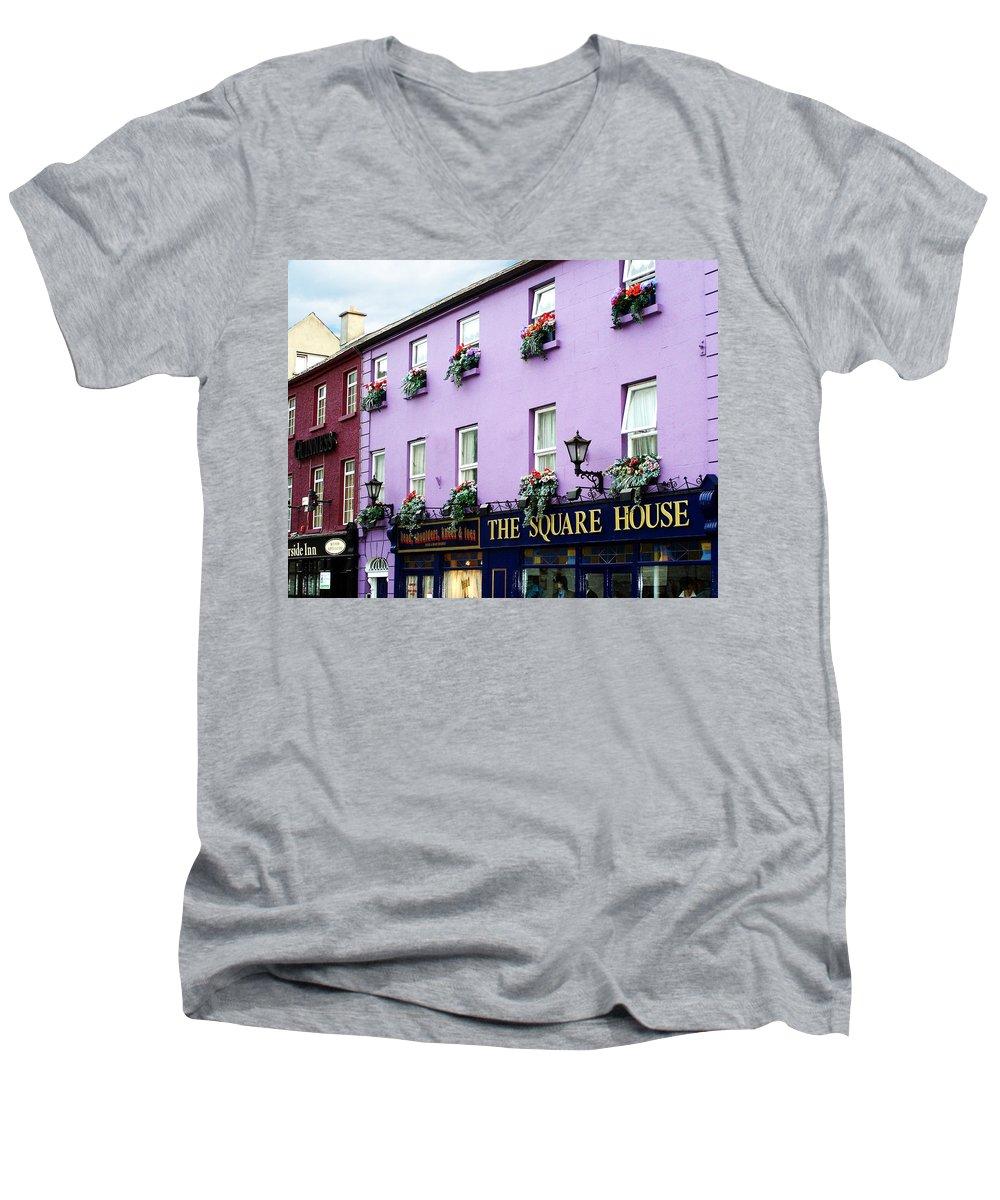 Irish Men's V-Neck T-Shirt featuring the photograph The Square House Athlone Ireland by Teresa Mucha